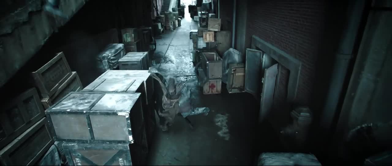 两人在巷子里赤手空拳的对付日本人