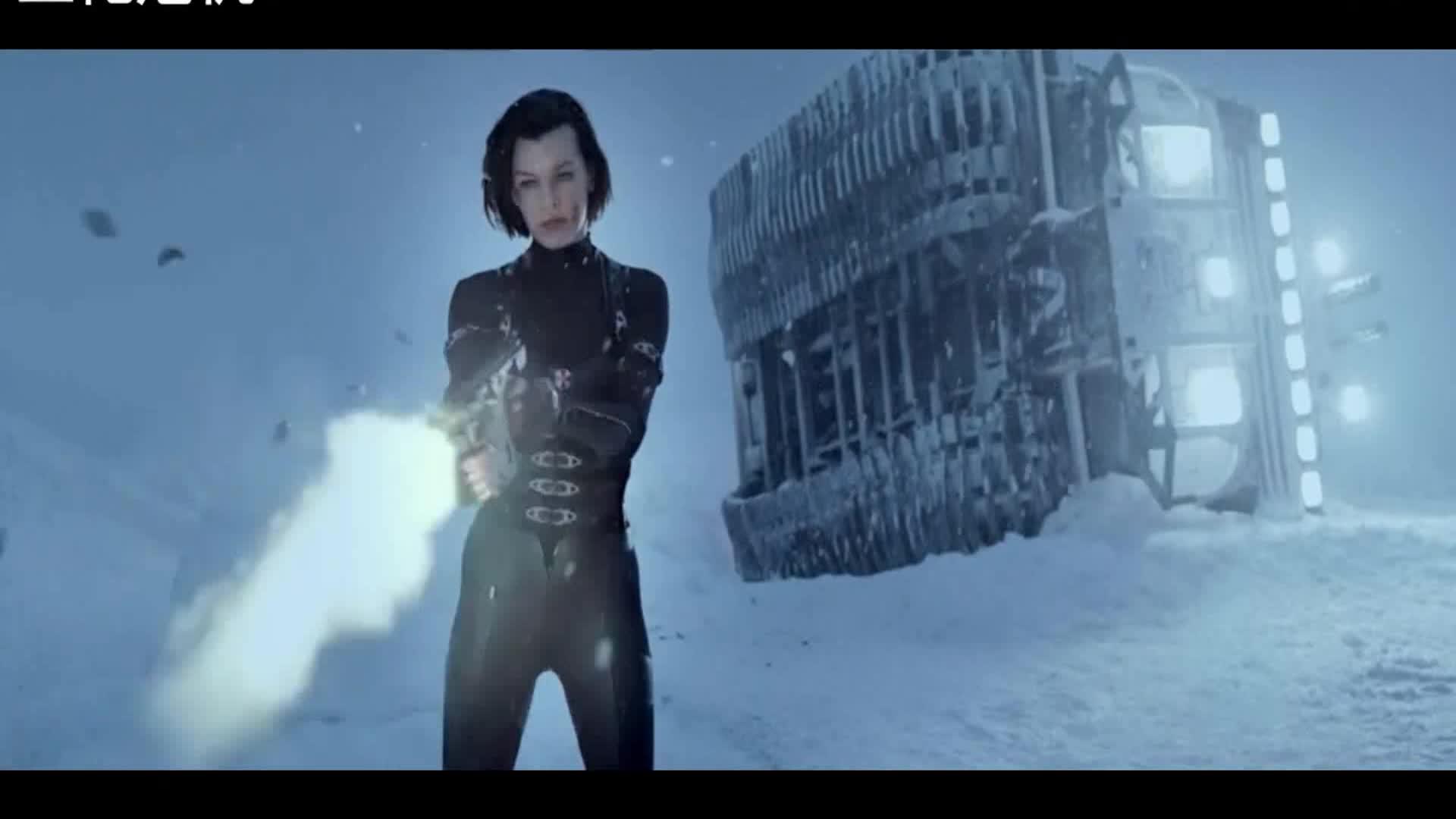 #高能 电影片段#没想到不怕子弹的美女最后是这个死法