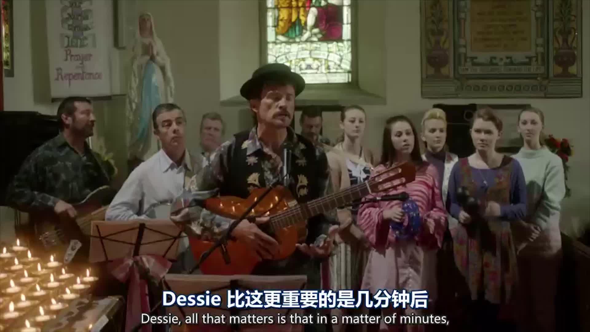 优美的歌声响起,在父亲的搀扶下,新娘缓缓入场