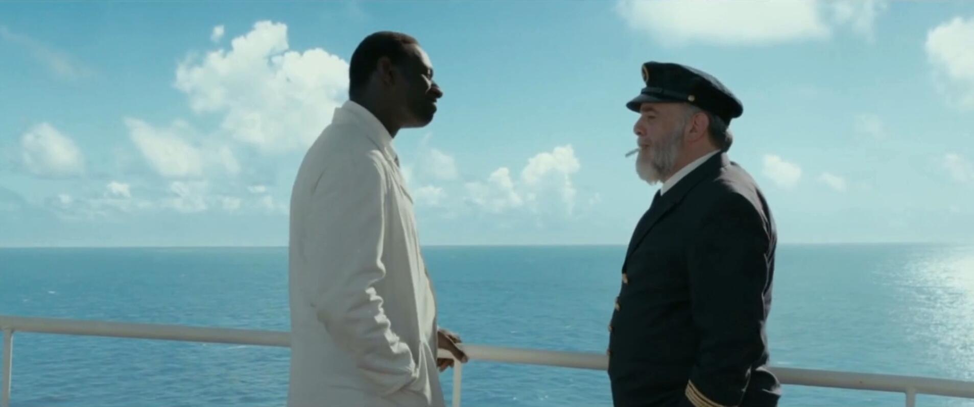 #经典看电影#轮船上致敬无间道,问路都能让你笑出皱纹