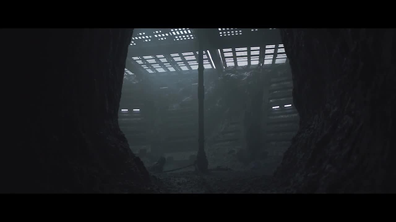 男主和一个怪物关在一起,在被杀死之际,一门外语救了他