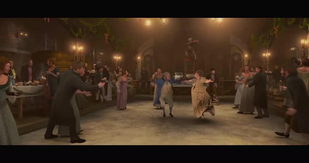 大叔回到童年时光,与漂亮的小姐姐跳舞,一起过万圣节