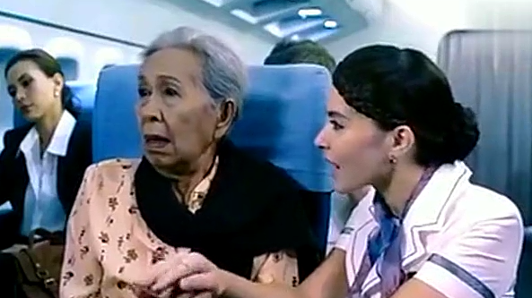 飞机407航班,精彩片段,空姐数了10个数之后就死了!