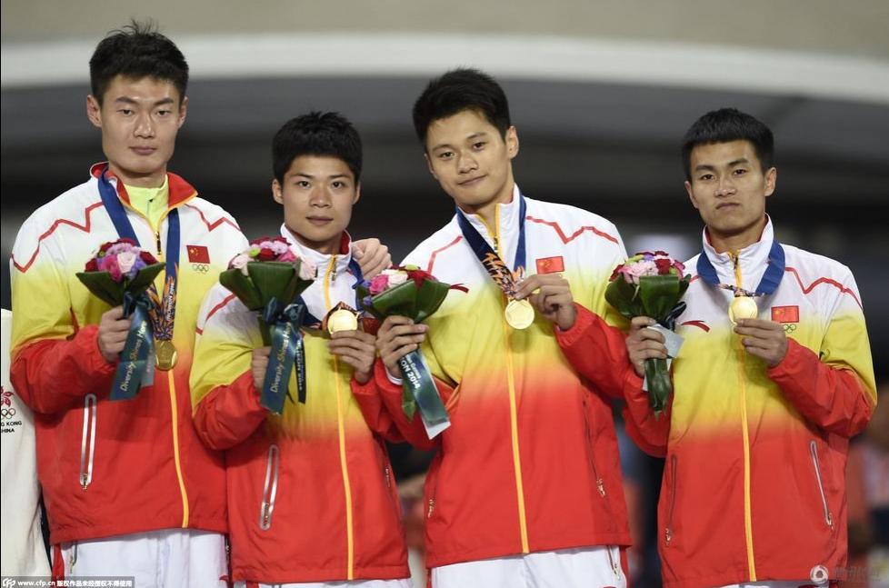 中国4乘100接力夺冠完胜日本!打破日本保持7年的亚洲纪录