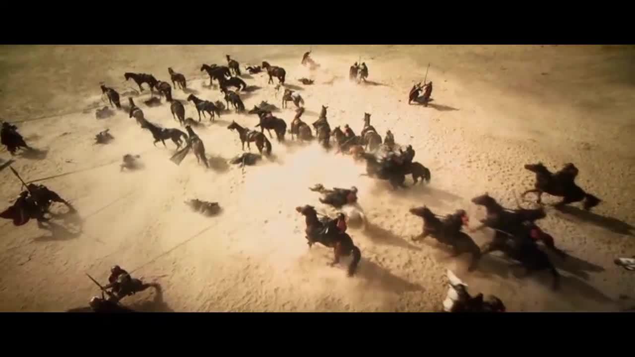 汉人军队迎战罗马军队,汉军出门迎战,遭到埋伏损失惨重