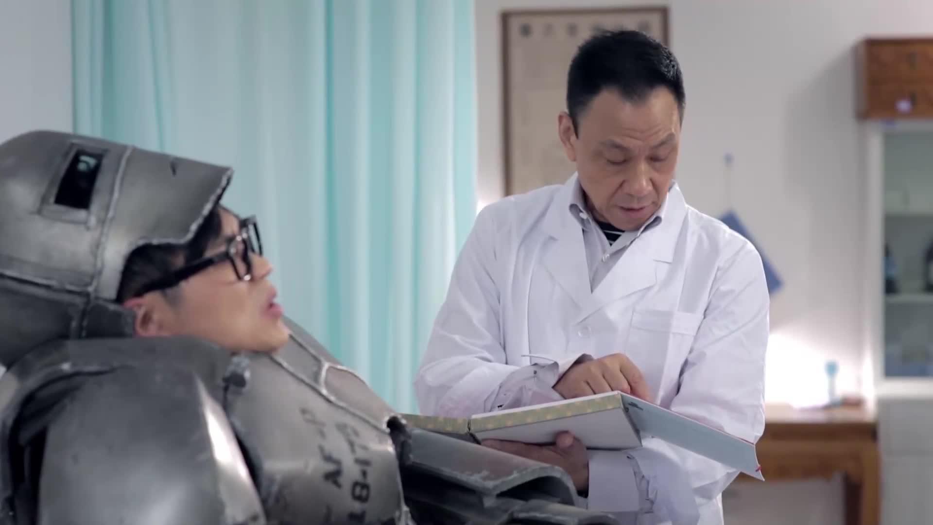 大鹏穿着这样来看病,结果医生说了这样的话,大鹏立马晕倒了