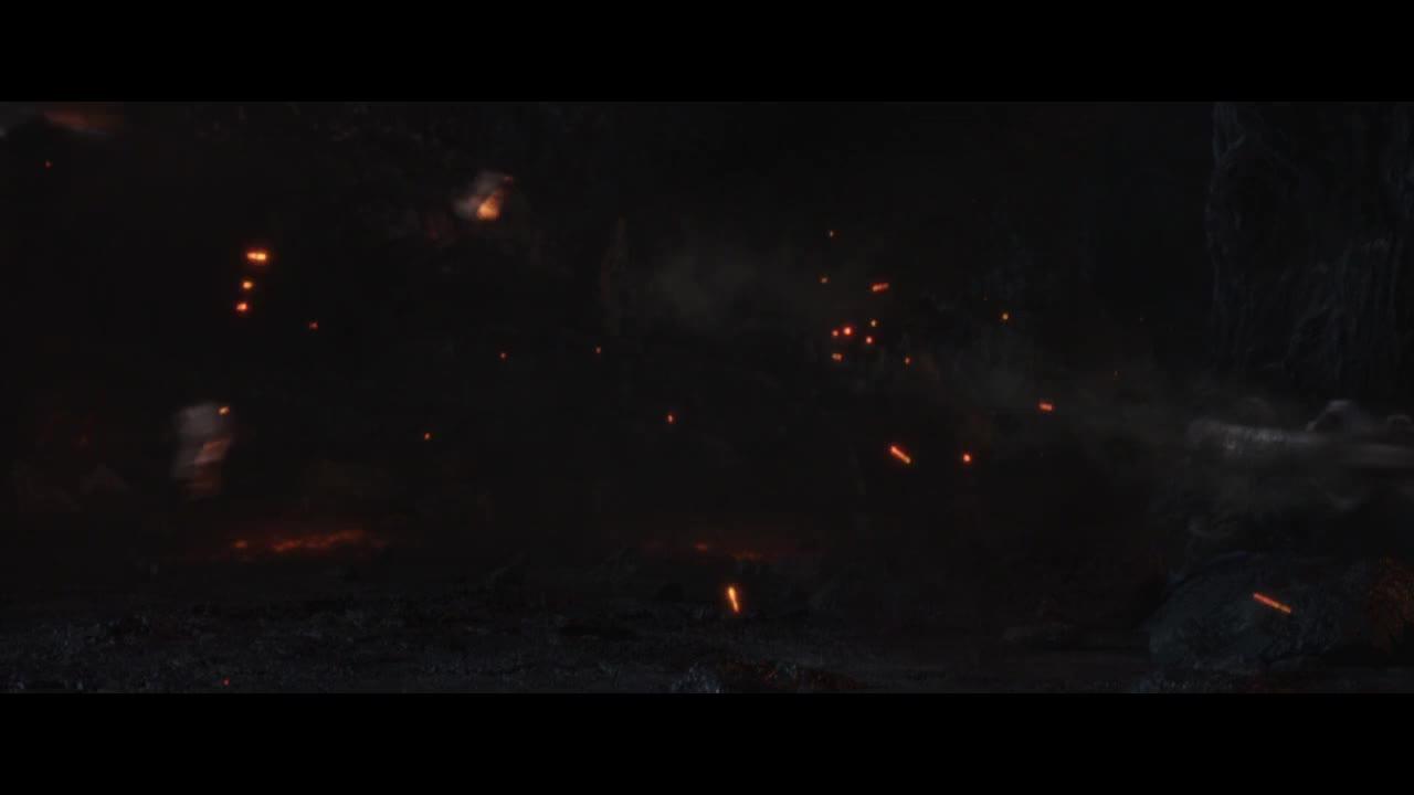 雷神举起锤子要传送回家,却发现根本没反应,怪物要追上来了