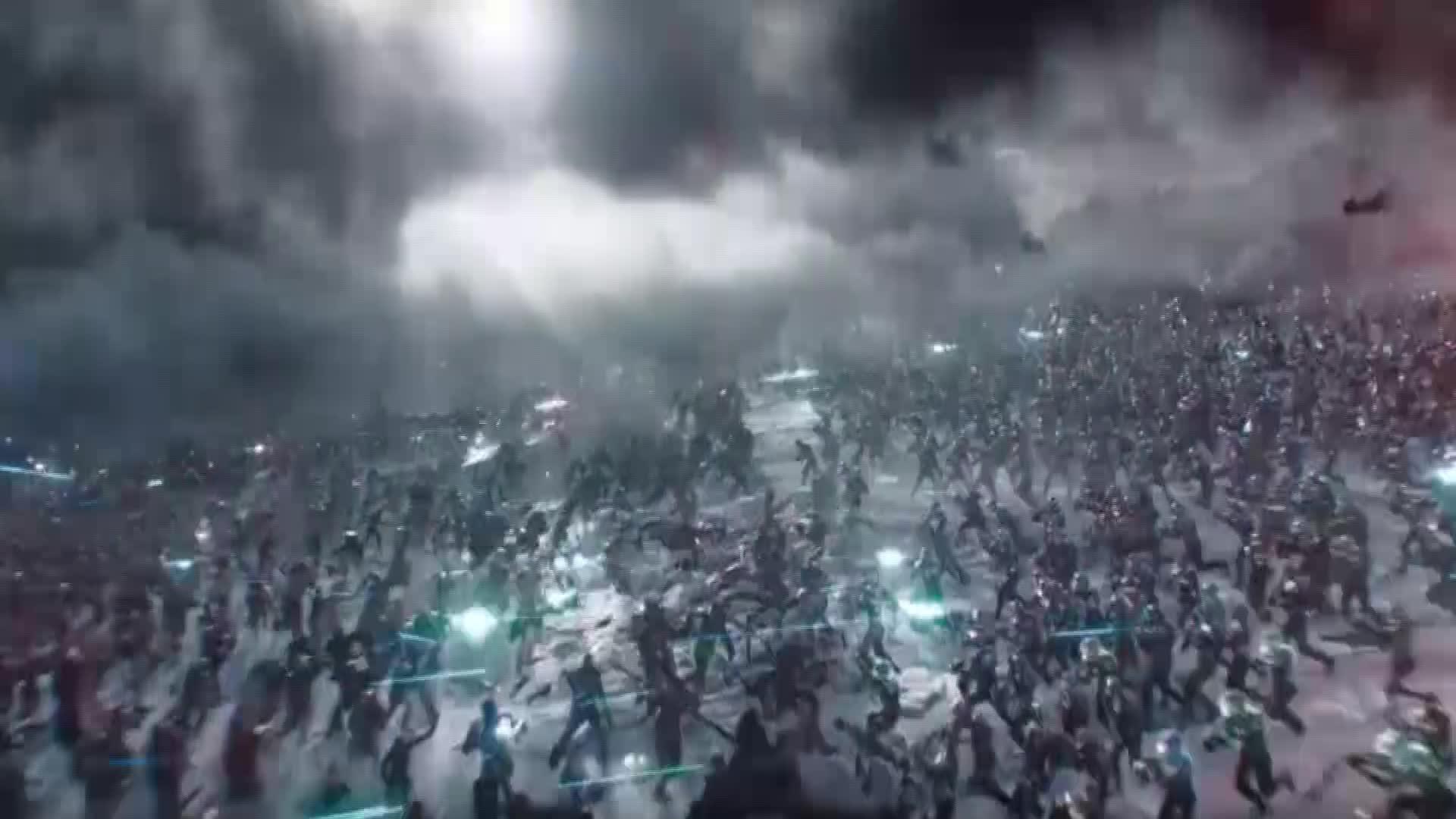 #电影#机器与百万人群的战争,变异人牛逼