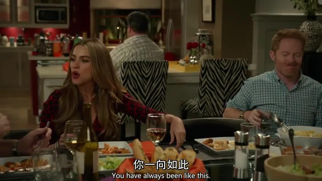 一家人在一起吃饭,一起聊了起来,女孩再次找到保姆