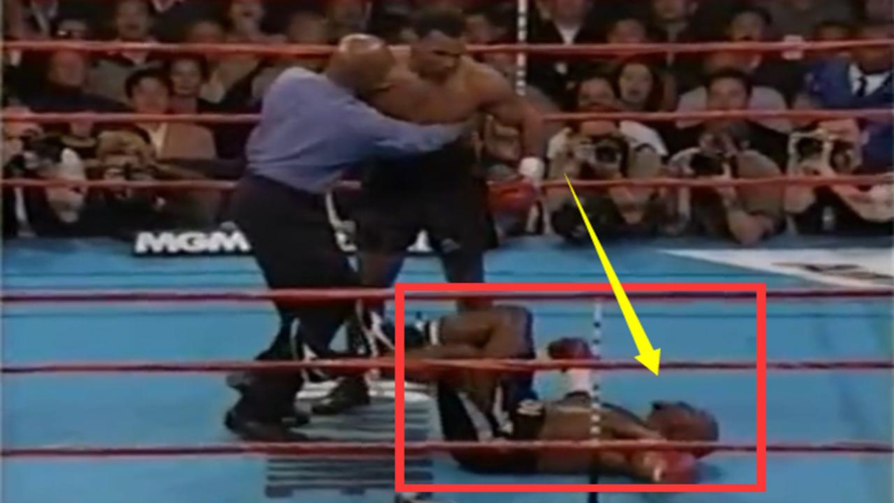 #泰森#泰森彻底怒了!碰上最无赖的对手,不补拳的泰森唯一补拳击倒对手