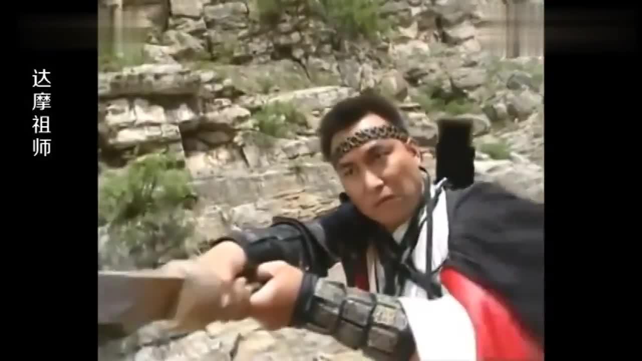 想用剑杀死达摩,岂料达摩身怀27道金光护体,早已刀枪不入!