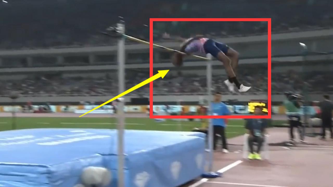 #跳高#中国跳高一哥爆发差点让亚洲纪录保持者绝望,但他却出奇招夺冠了