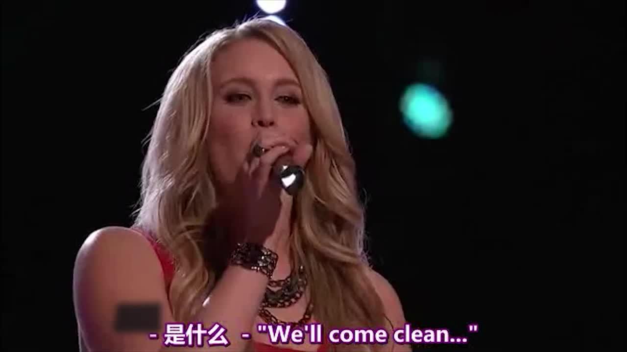 亚当说这首歌最难的地方就是换气,但她唱的很棒