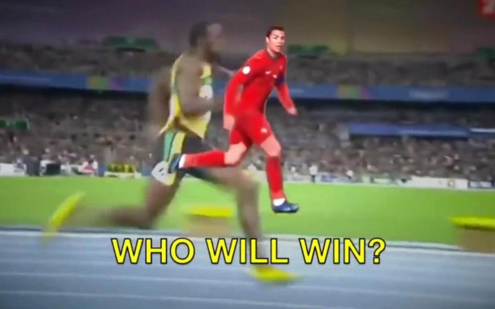博尔特让C罗5米谁赢?世界第一巅峰速度对决,期待这天的到来!