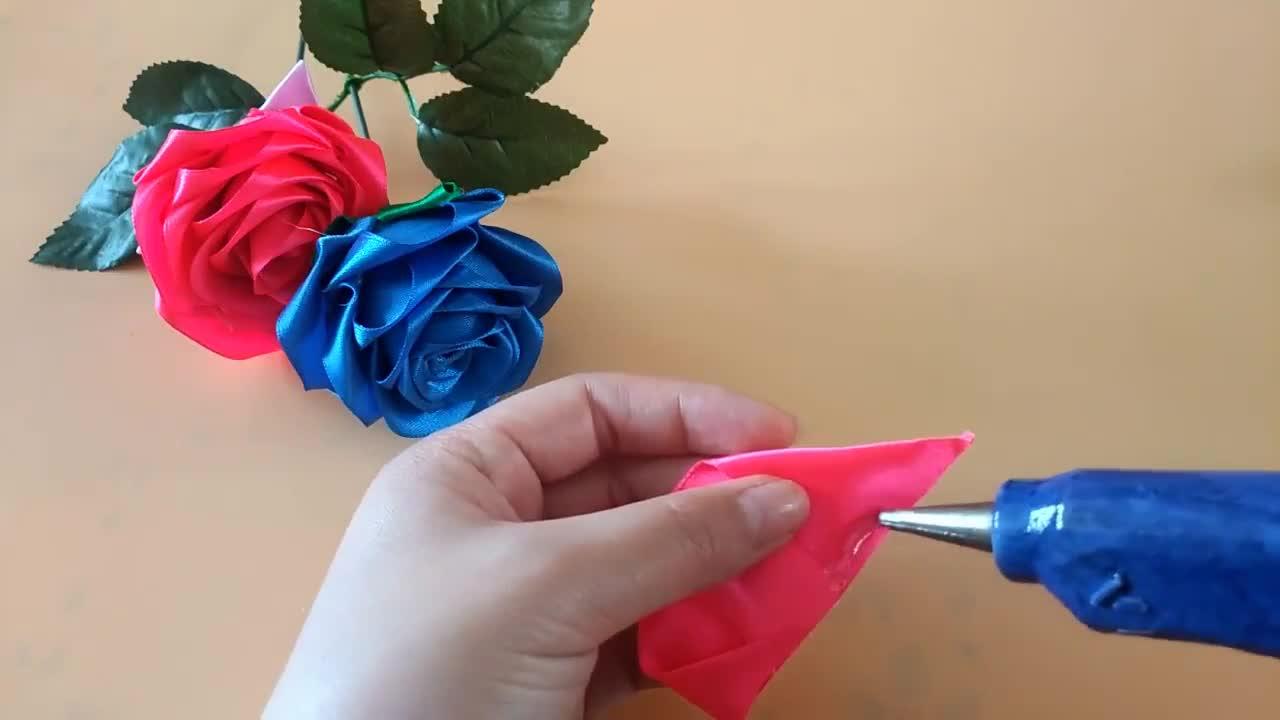 情人节到了,教你用丝带DIY一支漂亮的玫瑰花送女神,永不凋零
