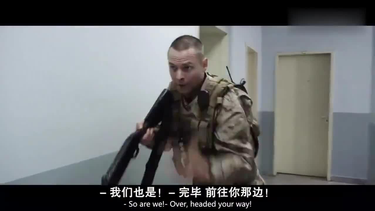 海豹突击队,用重机枪疯狂扫射敌人