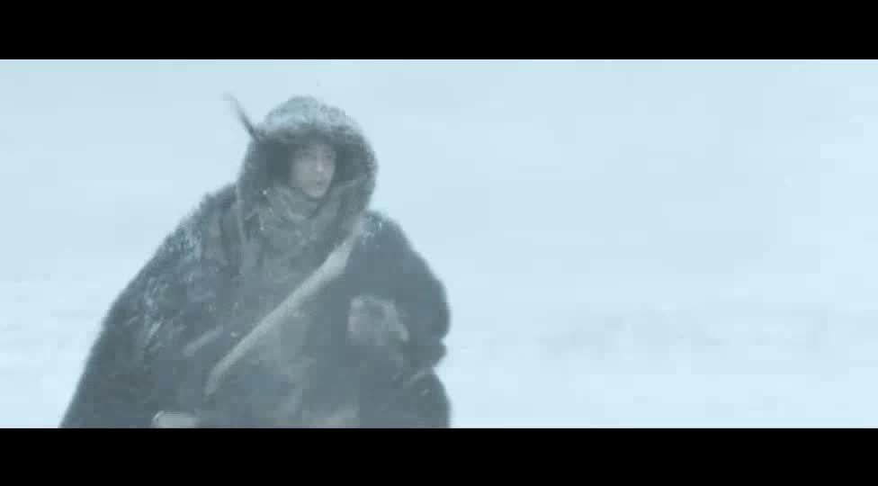 小伙为了找阿尔法跌落冰湖,水中拼命挣扎