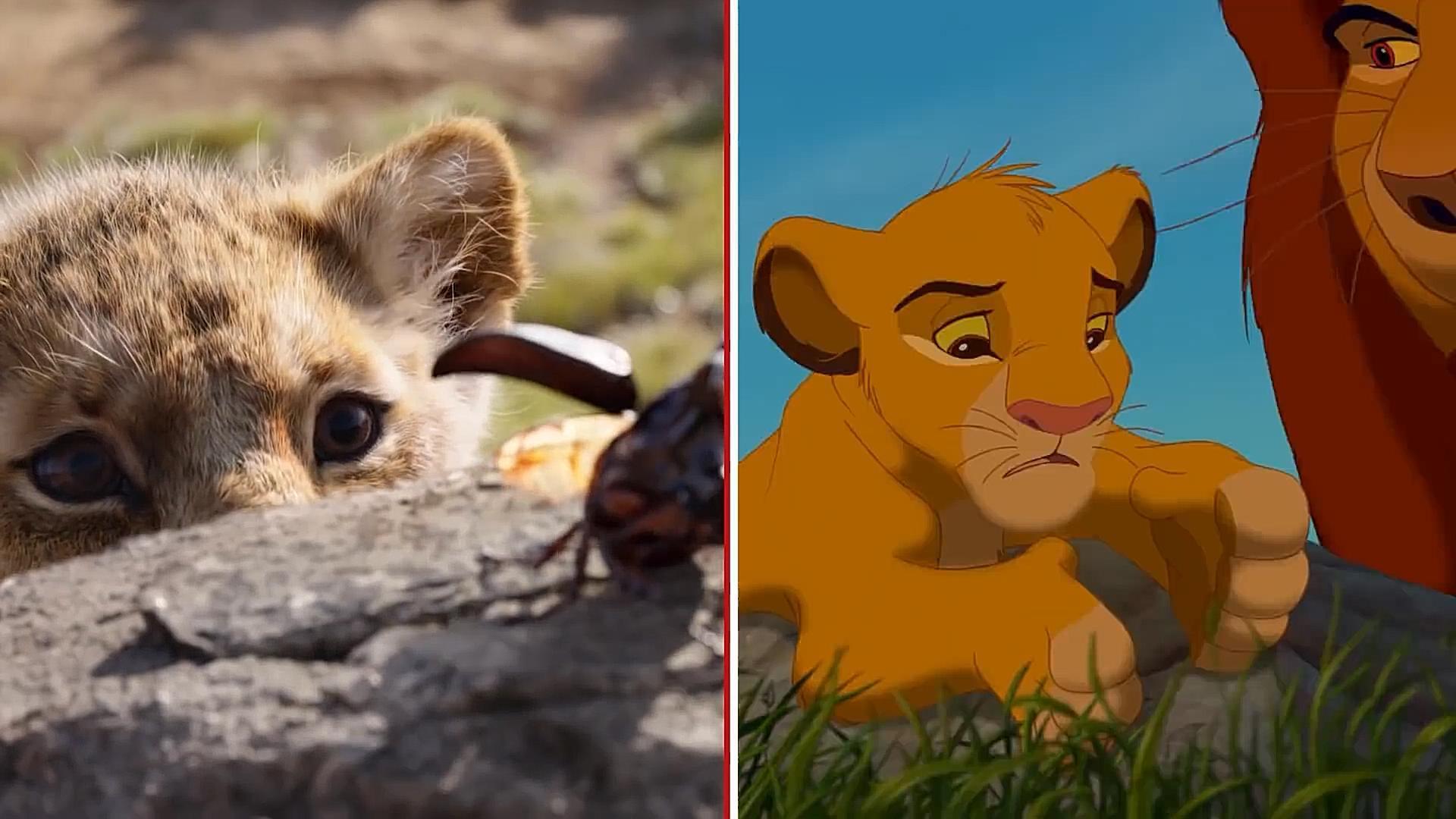 #电影最前线#《狮子王》新预告与94年原版动画逐帧对比,很多熟悉的画面瞬间