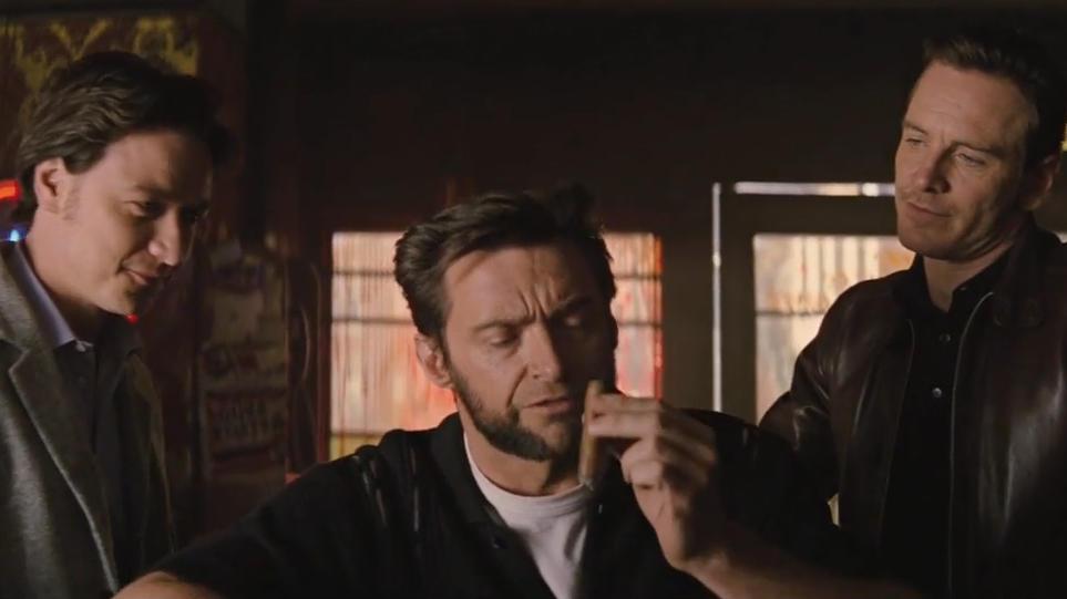 #最强漫威超级英雄#两个最强的变种人找到了金刚狼,结果被狼叔一句话吓跑了