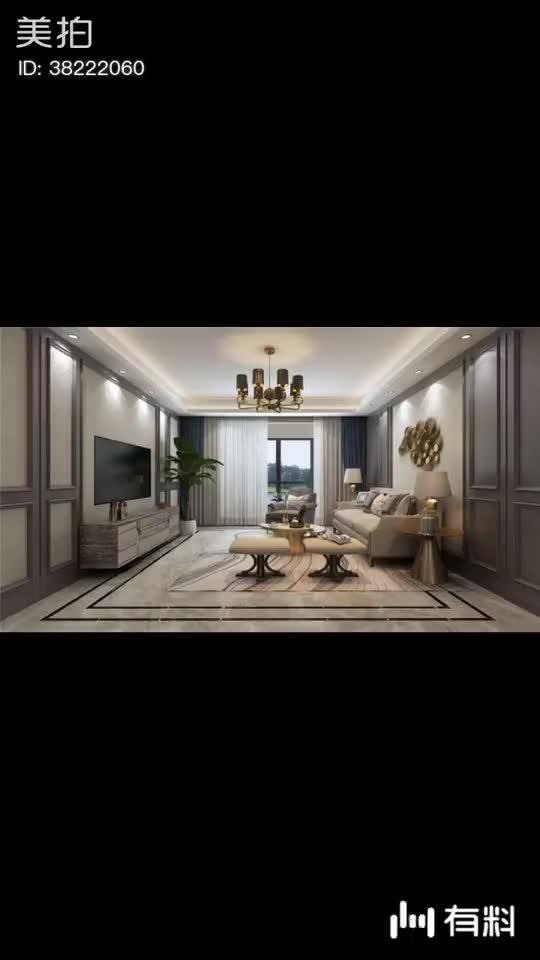 新加坡花园城150平混搭风格四居室装修。